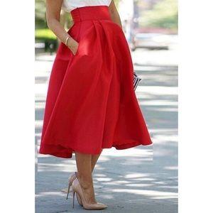 Dresses & Skirts - Flared red skirt